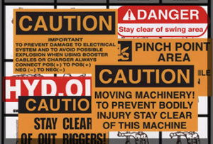 Crane safety stickers
